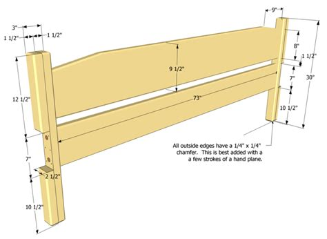 diy king size headboard plans plans free