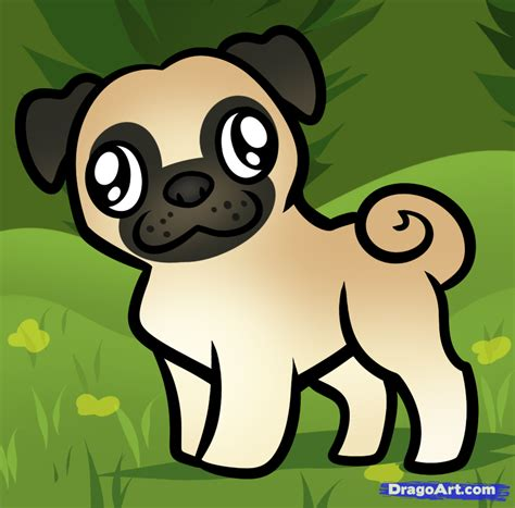 how to draw a pug for how to draw a pug for step by step animals for for free