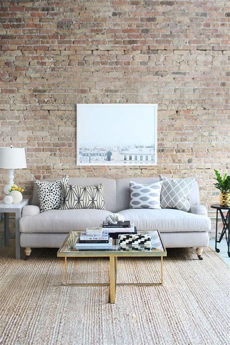 brick wall living room brick tiles exposed brick without the mess tile mountain