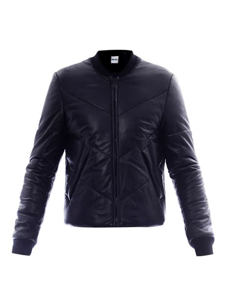 Black Quilted Jacket by Kenzo Quilted Leather Jacket In Black For Lyst