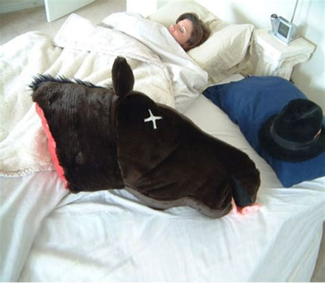 godfather horse head pillow severed horse head pillow