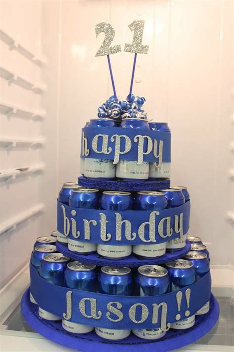beer can cake made by samantha beer can birthday cake husband s 30th
