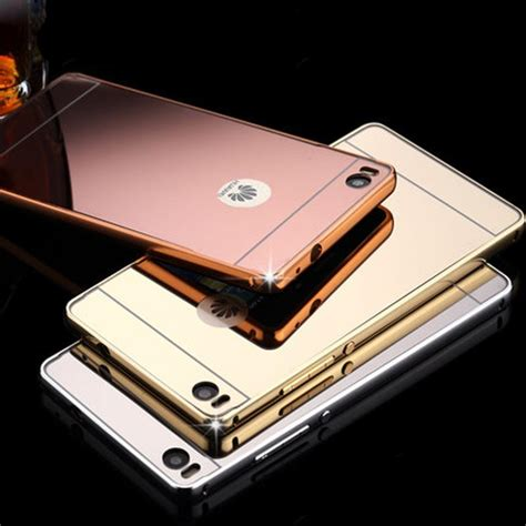 Bumper Mirror Iphone 5s G Gold mirror phone alloy metal bumper frame pc back cover