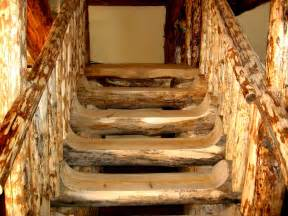 Log Home Stairs by Colorado Log Cabin