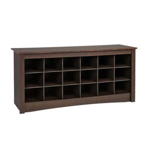 mudroom shoe storage bench prepac entryway shoe storage cubbie bench espresso ess 4824
