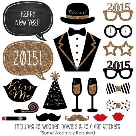 new years photo booth props free printable new