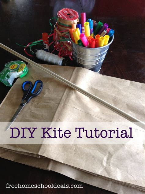 How To Make A Paper Bag Kite - daily frugal tip diy paper bag kite couponing 101