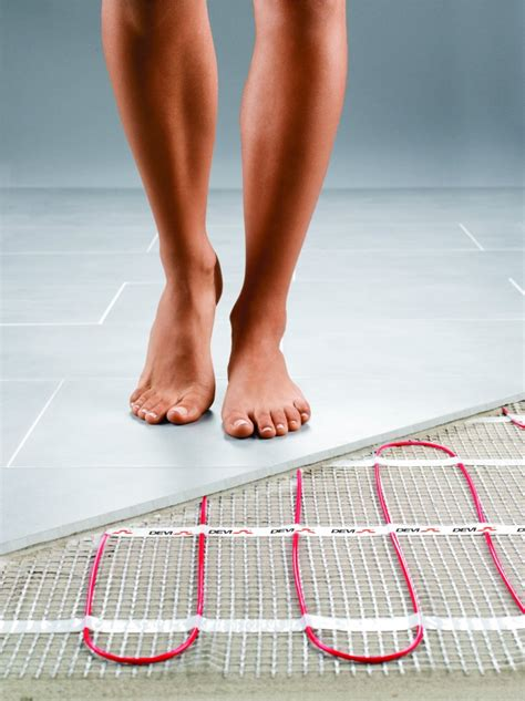 installing heated floor in bathroom cold temps call for warm toes think heated flooring