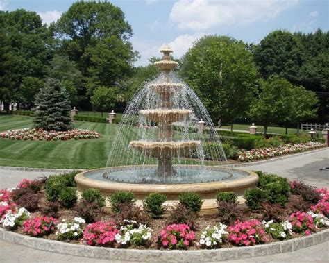 Large Tiered Estate Fountain Traditional Landscape New York by Carved Stone Creations, Inc.