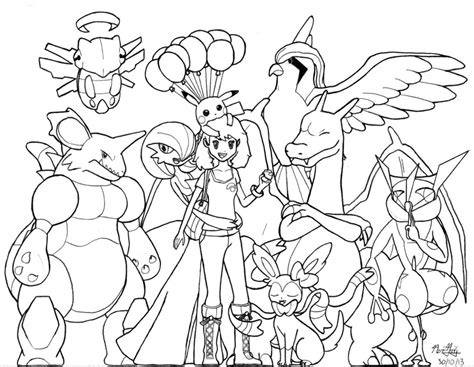 pokemon coloring pages palpitoad anime cartoon my pokemon x team lineart by bigsharkz