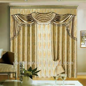 Insulated Drapery Fabric Luxury Blackout Curtain With New Design Valance Curtain