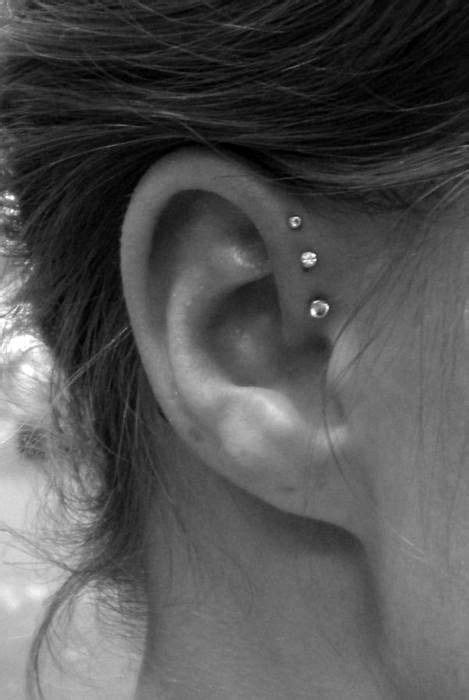 cat tattoo ear piercing prices three stud ear piercing other things i like pinterest