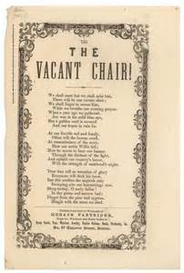The Vacant Chair by From Thanksgiving 1861 Today The Vacant Chair Pastor
