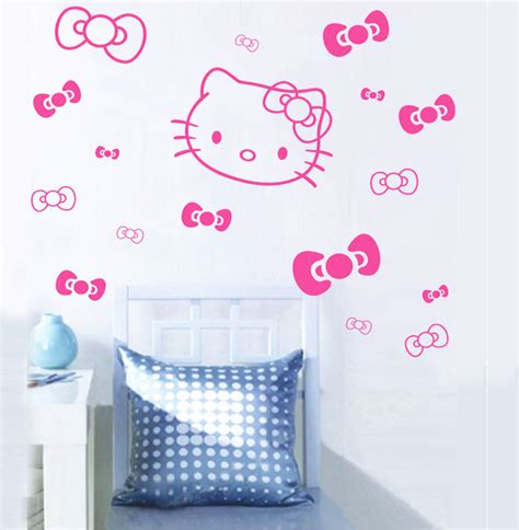 hello kitty stickers for bedroom walls hello kitty wall sticker decal girls room wall stickers