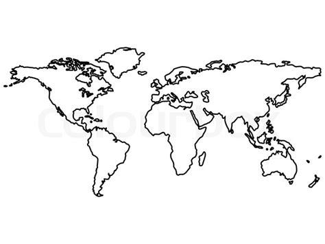 World Outline Drawing by Schwarz Weltkarte Umrisse Isoliert Auf Wei 223 Abstrakte Kunst Illustration Stockfoto Colourbox