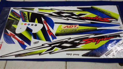 Striping Sonic 125 adtracing spare parts motor cbu dan part racing drag bike roadrace spare part sonic 125 cbu