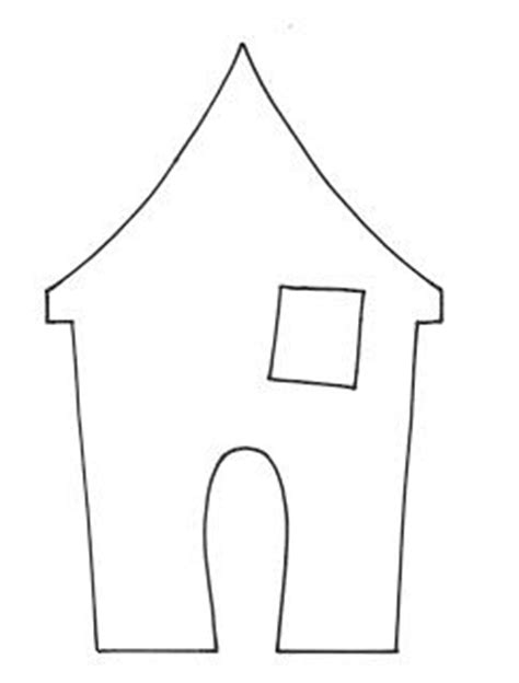 small haunted house printable template printables