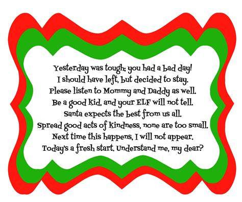 free printable elf on the shelf poem elf on the shelf bad day poem with printable diy inspired