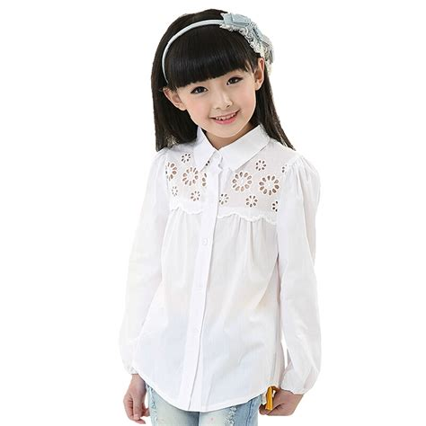 Blouse Branded White 2017 new arrival clothes brand white blouse children s fashion sleeved