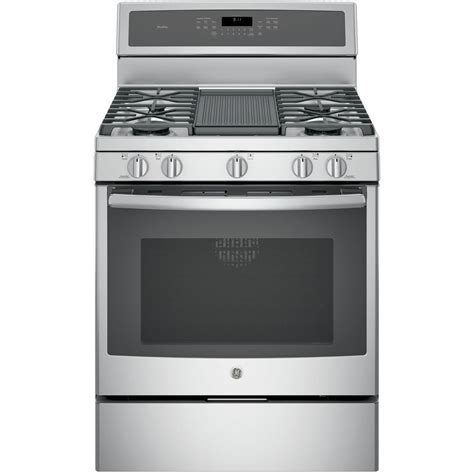 Convection Cooktop Ge Profile 30 In 5 6 Cu Ft Gas Range With Self Cleaning