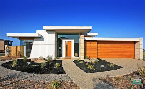 Modern Flat Roof Home Designs Builders Geelong Stylish Home Designs