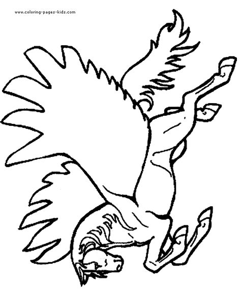 flying pony coloring pages pegasus color page coloring pages for kids fantasy