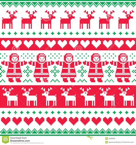 christmas pattern to print winter christmas red and green seamless pattern or print