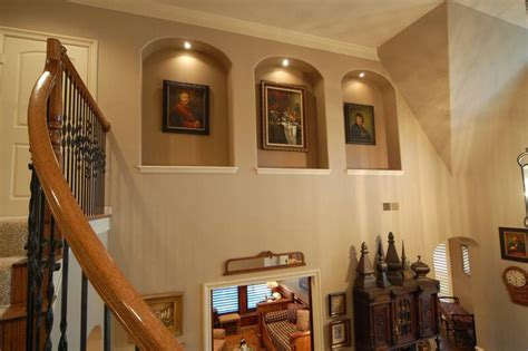 niche on mediterranean living rooms houston and traditional family rooms