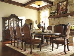 shore dining room set north shore double pedestal extendable dining room set from ashley d553 55 coleman furniture