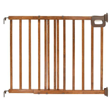 summer infant banister gate summer infant 24 in secure pressure mount wood plastic