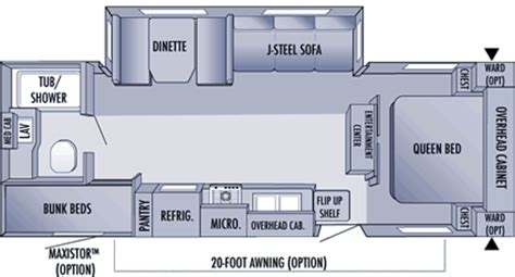 26 ft travel trailer floor plans 2006 jayco flight travel trailer rvweb
