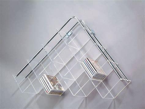 scaffali porta cd porta cd denver da parete in plexiglass 80 x 50 cm