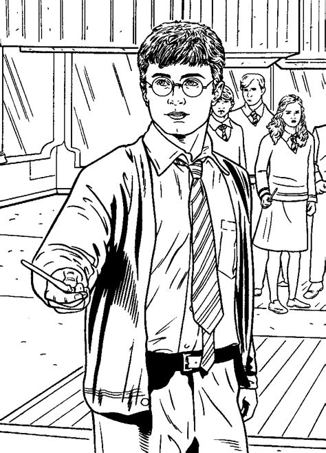 Kids-n-fun.co.uk | Coloring page Harry Potter and the