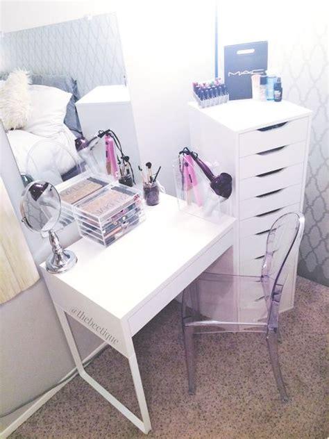 Vanity Chairs Ikea Diy White Ikea Vanity Makeup Organization Louis Ghost