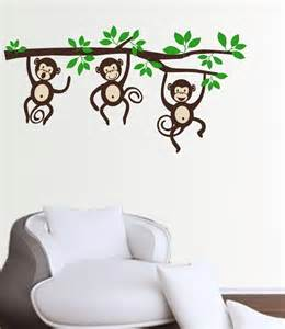 Monkey Stickers For Walls Monkeys On A Branch Wall Decal Sticker Medium