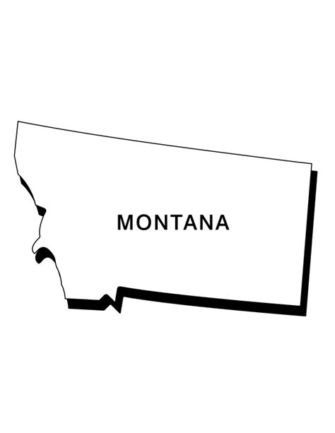 Free Coloring Pages Of Montana Shape Montana Coloring Page