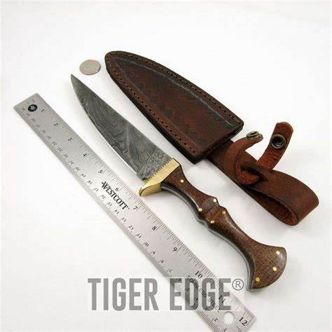 leather micarta damascus steel brown micarta handle wizard s dagger knife