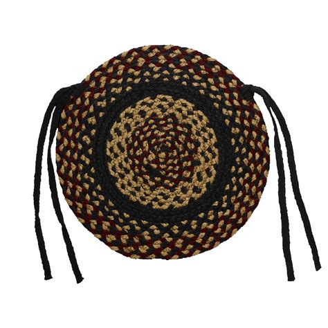 Braided Chair Pads braided chair pads country primitive by ihf set of 4 ebay