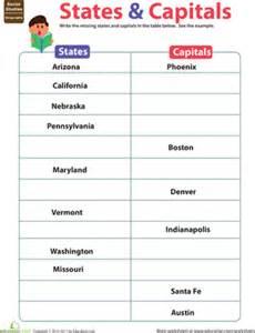 states amp capitals worksheet education com