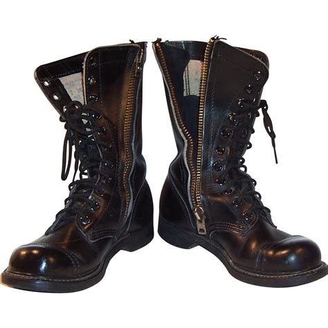 combat boots vintage leather combat boots made in usa from