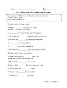 personal pronouns worksheets i and me intermediate