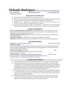 Business Intelligence Developer Sle Resume by Bi Developer Resume