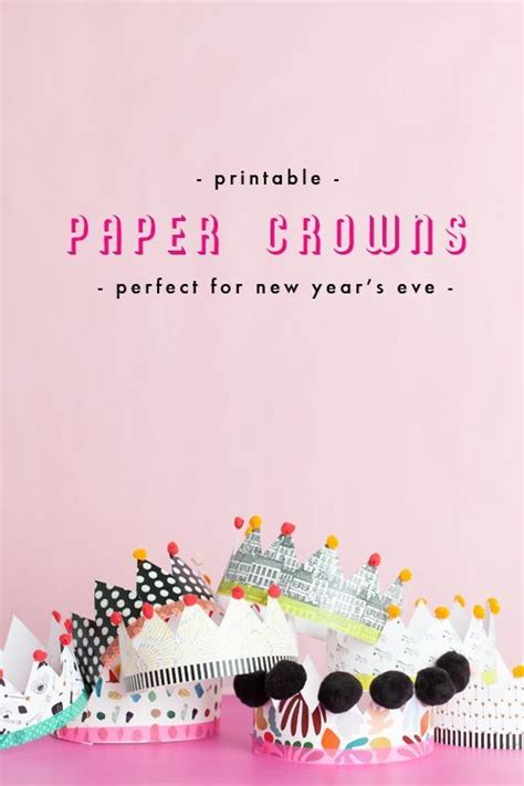 printable new year s crown 104 best holiday new years images on pinterest