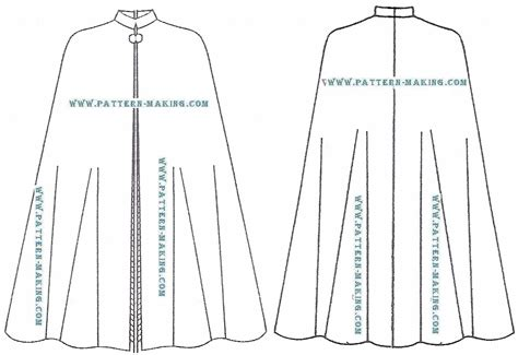cape pattern how to draft the circular cape pattern