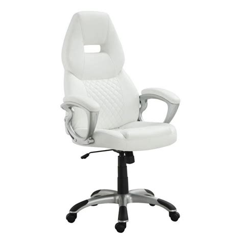 coaster high back office chair in white 800150