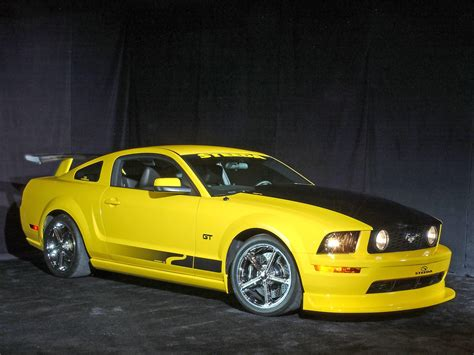 2005 ford mustang yellow 2005 ford mustang gt coupe by steeda autosports yellow
