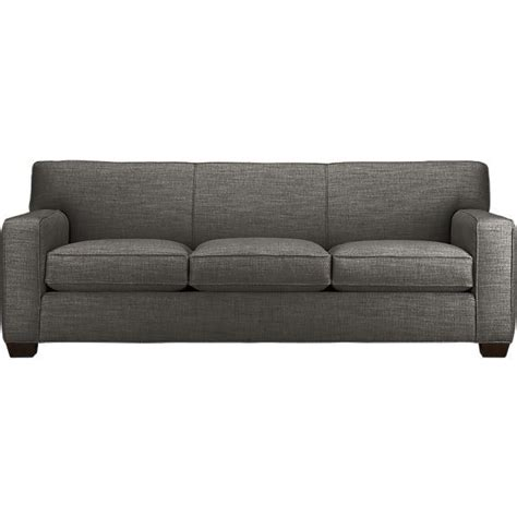 gray couch cameron sofa crate and barrel