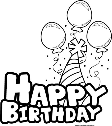 Black And White Birthday Clipart birthday celebration clip black and white
