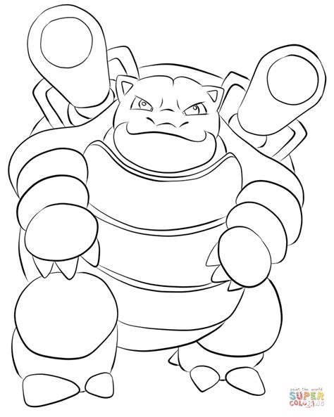 pokemon coloring pages of blastoise blastoise coloring page free printable coloring pages