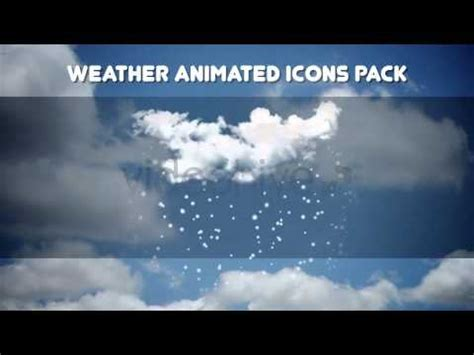 Weather Animated Icons Pack After Effects Templates Youtube After Effects Weather Template